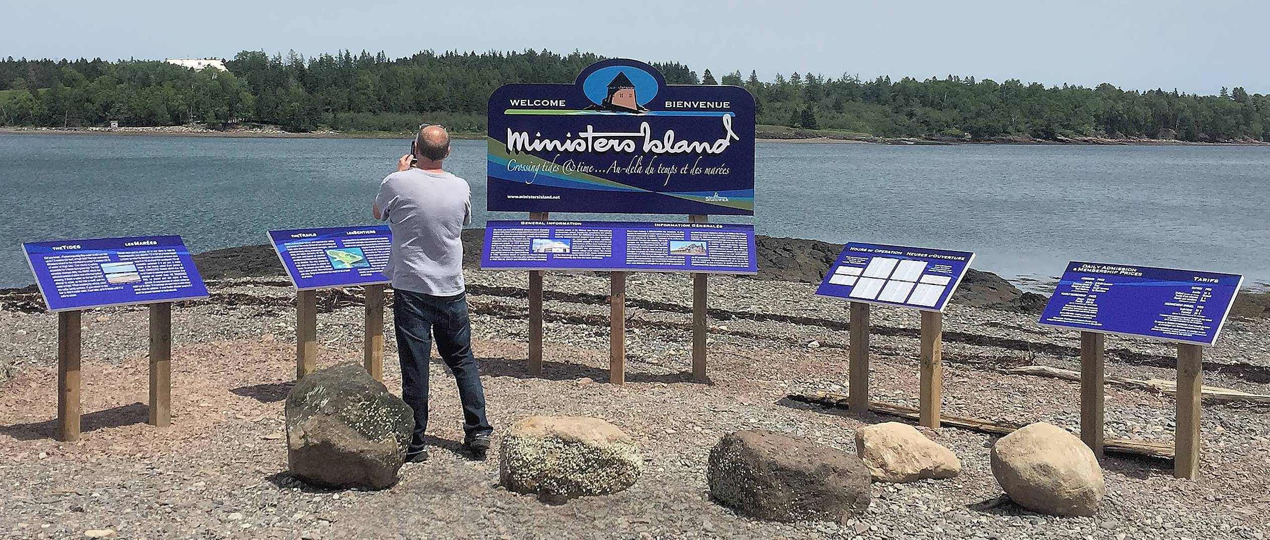 Ministers Island New welcome signs